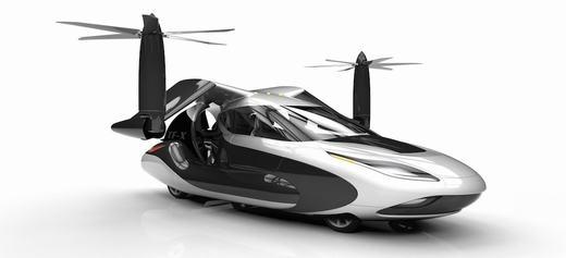 Hai cánh quạt phía trên giúp xe thăng bằng. (Ảnh: Driven to Fly)