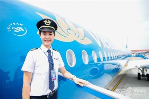 Sinh ra tại Bỉ nhưng có bố mẹ người Việt,Huỳnh Lý Đông Phương đang sắp trở thành nữ cơ trưởng đầu tiên của Việt Nam. (Ảnh:Huỳnh Lý Đông Phương)