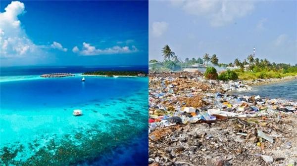 """Thiên đường Maldives cũng có những """"bãi rác"""" do con người tạo ra. (Ảnh: Internet)"""