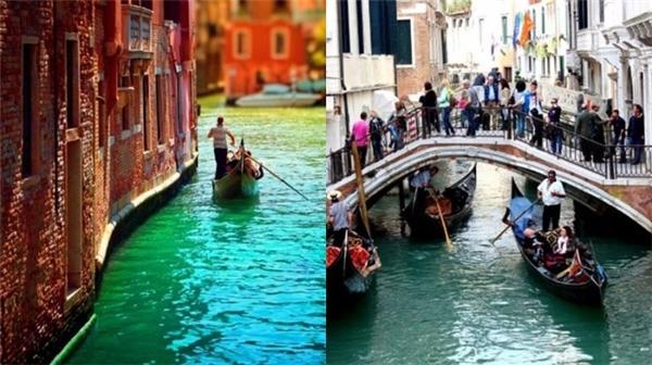 Những dòng sông ở Venice cũng trở nên đông đúc vào mùa cao điểm. (Ảnh: Internet)