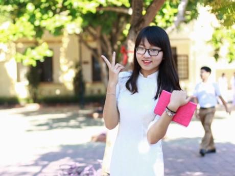 Nữ sinh mộc mạc, chuyên Pháp tên Phan Thị Nguyên Trang. (Ảnh: Internet)