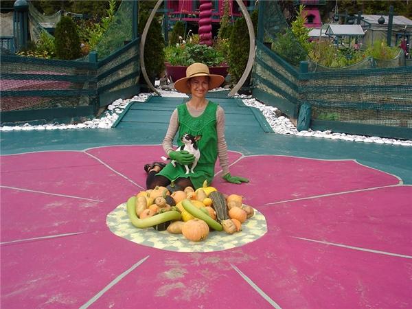 Các loại rau củ quả được trồng trong vườn nhà.