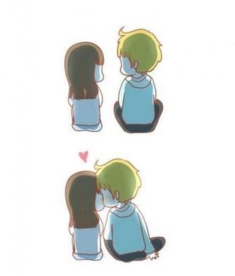 Nụ hôn nhẹ nhàng như gió thể hiện sự trân trọng đối phương. (Ảnh: Internet)