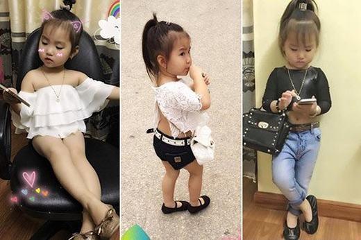 Bé gái thường xuyên xuất hiện trong những bộ đồ váy ngắn, áo hở lưng