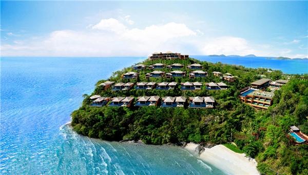 Phuket như một hòn ngọc xanh khi nhìn từ trên cao.(Ảnh: Internet)