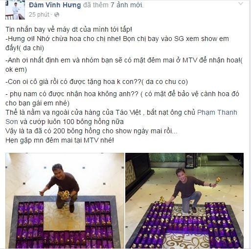 """Mr Đàm chia sẻ món quà """"khủng"""" anh dành tặng cho các fan nữ trong ngày 8/3. - Tin sao Viet - Tin tuc sao Viet - Scandal sao Viet - Tin tuc cua Sao - Tin cua Sao"""
