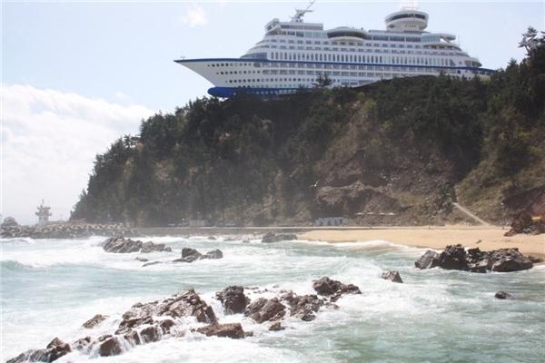 Một khách sạn nghỉ mát đặc biệt được thiết kế như du thuyền ở Hàn Quốc. (Ảnh: Reddit)