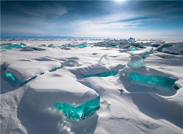 Hồ Baikal ở miền Đông Siberia, Nga. (Ảnh: Reddit)