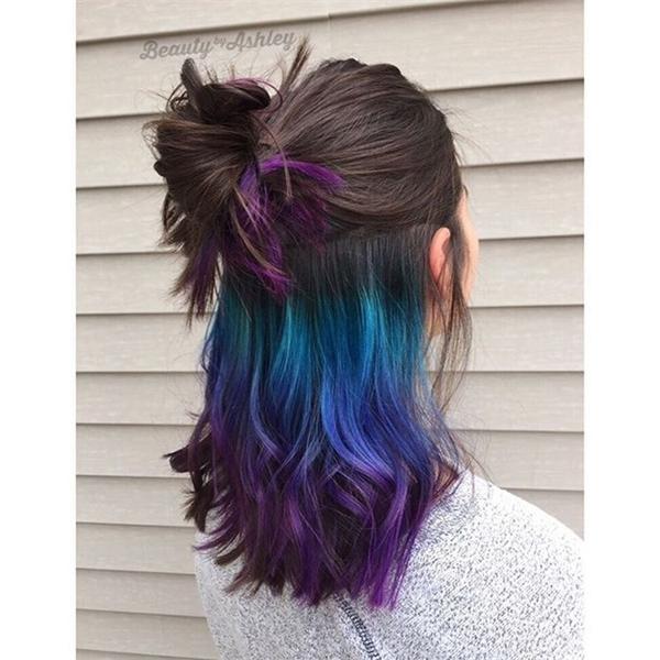 Chỉ khi nào cột tóc lên, lớp tóc màu mới xuất hiện. (Ảnh: Internet)