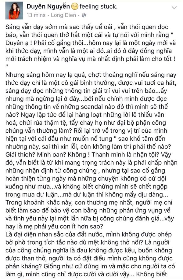 Hoa hậu Kỳ Duyên viết tâm thư sau khi bị chỉ trích nặng nề - Tin sao Viet - Tin tuc sao Viet - Scandal sao Viet - Tin tuc cua Sao - Tin cua Sao