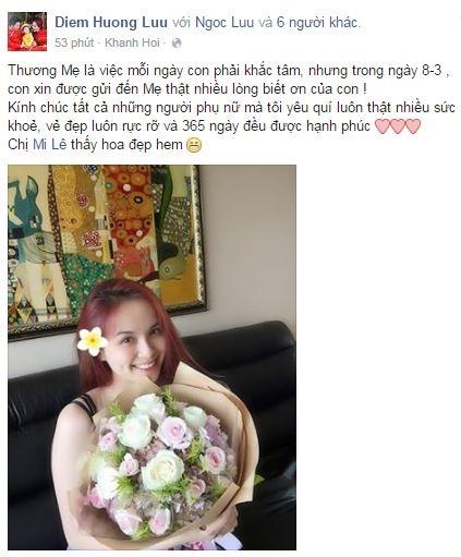 Hoa hậu Diễm Hương thương gửi đến mẹ những lời chúc tốt đẹp nhất. - Tin sao Viet - Tin tuc sao Viet - Scandal sao Viet - Tin tuc cua Sao - Tin cua Sao