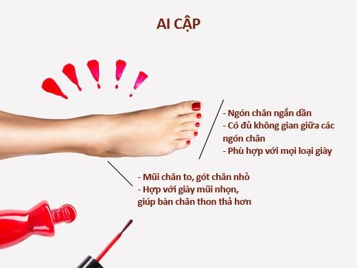 Kiểu chân Ai Cập có ngón cái dài nhất, các ngón còn lại ngắn dần. (Ảnh:stylefiles)