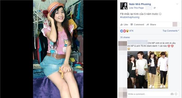 """Giống như những người dùng facebook khác, Nhã Phương cũng rất thích sử dụng ứng dụng """"On this day"""" (một ứng dụng cho phép người dùng facebook xem lại bài đăng của mình vào ngày này những năm trước để so sánh sự thay đổi). - Tin sao Viet - Tin tuc sao Viet - Scandal sao Viet - Tin tuc cua Sao - Tin cua Sao"""