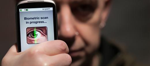 Công nghệ bảo mật bằng mống mắt cũng được cho là đang phát triển để thay thế nhận dạng vân tay. (Ảnh: Internet)