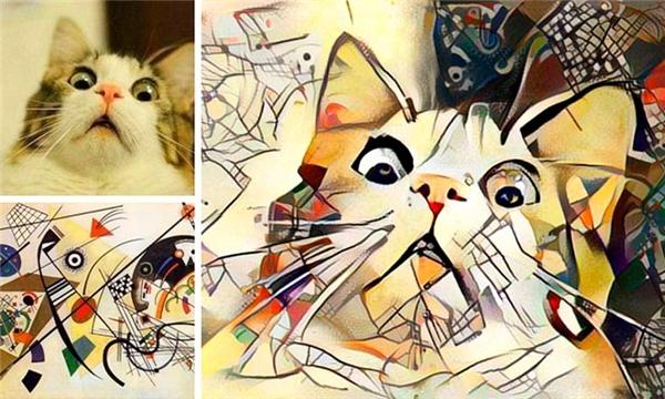 Ngại gì vài nét chấm phá để biến mèo cưng thành tác phẩm nghệ thuật?(Ảnh: Internet)