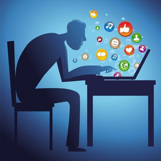 Bạn thông báo tất cả những việc mình làm trên mạng xã hội. (Ảnh: Internet)