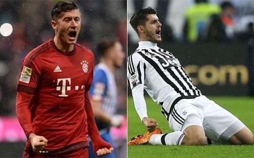 . Lewandowski và Morata e sợ sự thống trị của Ronaldo (Nguồn: Internet)