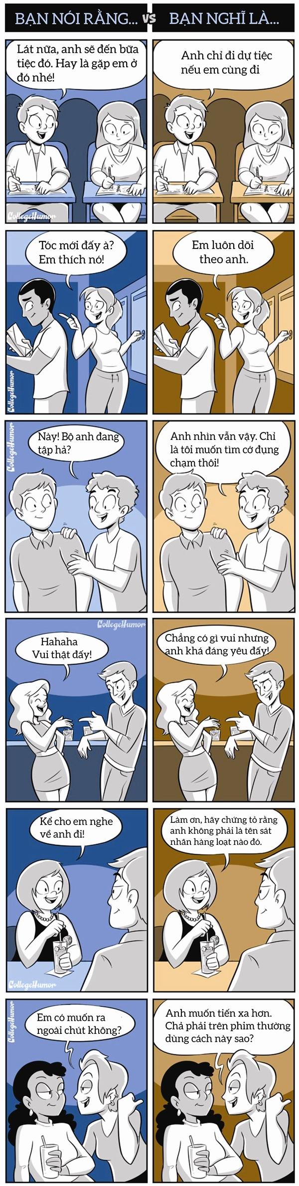Sự khác biệt giữa lời nói và suy nghĩ. (Ảnh: Internet)