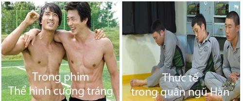 """Lính trong phim Hàn và thực tế """"khác nhau trời vực"""""""
