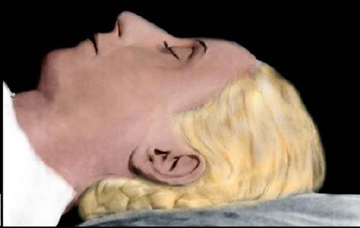Hình ảnh được phục hồi và tô màu cho thấy dù công trình ướp xác thành công, giữ được cho bà vẻ mặt hồng hào như khi còn sống. (Ảnh: Internet)