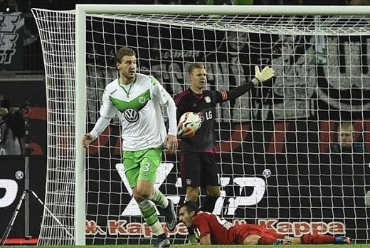 Bendtner trong màu áo Wolfsburg. (Ảnh: Internet)