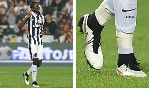Pogba trước đây thi đấu với những đôi giày của hãng Nike. (Ảnh: Soccerpro.com)