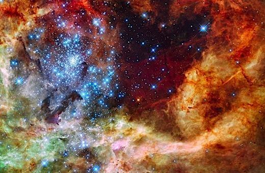 R136 đang là cụm sao sáng nhất hiện tại mà con người từng biết tới. (Ảnh: Internet)