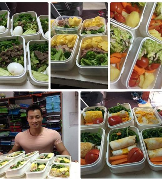 Anh chàng nấu ăn ngày 1-2 lần, chia làm 8 bữa nhỏ ăn dần trong ngày để cơ thể dễ hấp thu dưỡng chất hơn. (Ảnh: Internet)