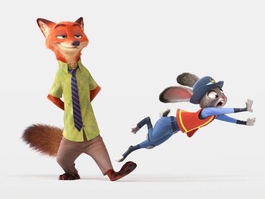 """Chàng cáo và nàng thỏ """"siêu quậy"""" khiến khán giả cực kỳ yêu thích. (Ảnh: Internet)"""