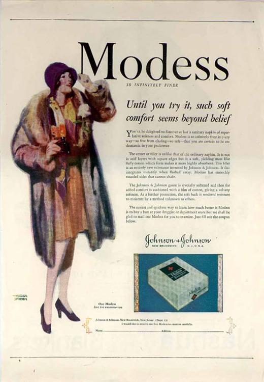 Miếng vệ sinh Modess làđối thủ cạnh tranh chính của Kotex.(Ảnh: Internet)