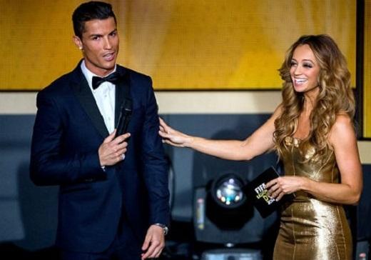 MC Kate Abdo tiết lộ về lá phiếu bất ngờ của Ronaldo. (Ảnh: Internet)