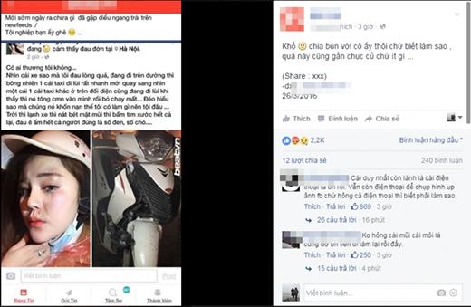 Dân mạng ngán ngẩm trước hình ảnh cô gái tai nạn xe vẫn không quên 'tự sướng'