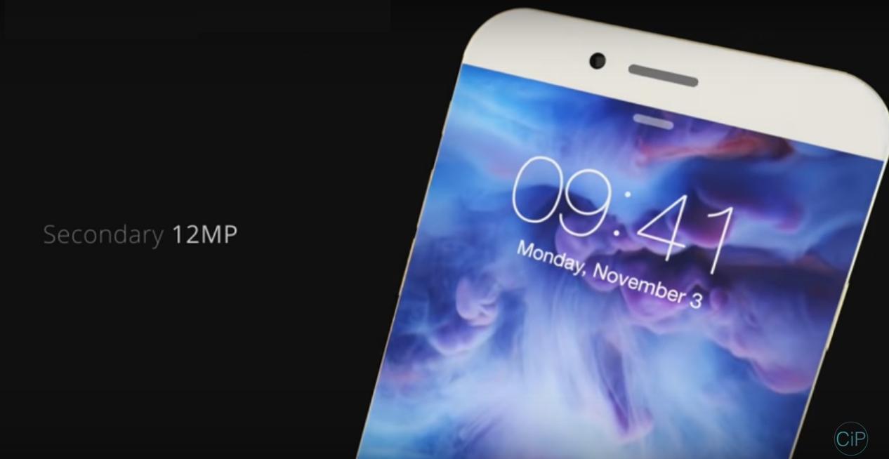 Concept iphone 7 có camera trước độ phân giải 12MP của nhà thiết kếGlaxon Paul vừa tung ra, được giới chuyên môn đánh giá khá cao.