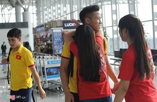 Trung vệ Quế Ngọc Hải cũng nhận được sự khích lệ trong ngày trở lại tuyển Việt Nam