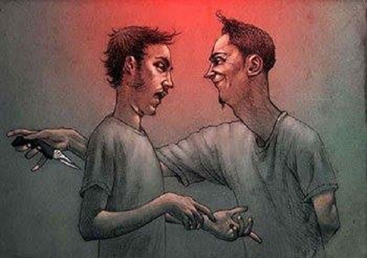 Kẻ thù trước mặt bạn không nguy hiểm bằngkẻ đâm sau lưng bạn. (Ảnh: Internet)