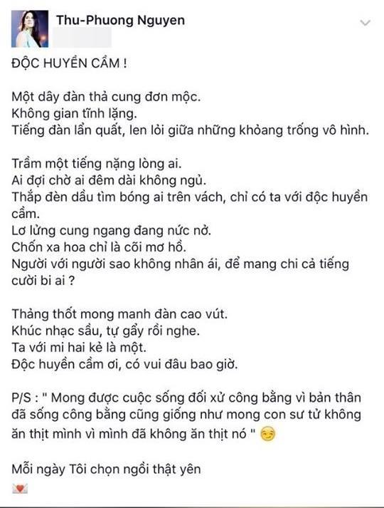 Dòng chia sẻ của ca sĩ Thu Phương - Tin sao Viet - Tin tuc sao Viet - Scandal sao Viet - Tin tuc cua Sao - Tin cua Sao