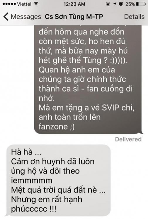 Những tin nhắn hé lộ con người thật của Sơn Tùng M-TP - Tin sao Viet - Tin tuc sao Viet - Scandal sao Viet - Tin tuc cua Sao - Tin cua Sao
