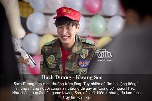 Bạch Dương là anh chàng quầy game Lee Kwang Soo. (Ảnh: Internet)