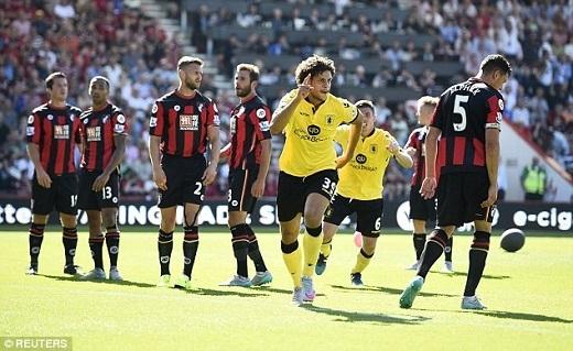 10. Các đội chủ nhà:Kể từ khi Premier League 2015/16 khởi tranh, đã có tổng cộng 120 trận đội chủ nhà giành chiến thắng, 82 trận hòa và có đến 101 lần những vị khách giành trọn vẹn 3 điểm. Thậm chí, CLB đứng đầu bảng Leicester còn giành chiến thắng trên sân của đối thủ nhiều hơn khi chơi trên sân King Power (10 và 9). Everton, Liverpool, Crystal Palace, Arsenal xếp sau với 8 trận thắng trên sân nhà và 8 trên sân khách. Vốn là lợi thế không phải bàn cãi, nhưng có lẽ ở mùa giải năm nay, sân nhà không còn là bùa hộ mệnh đem về chiến thắng cho các đội bóng tại Anh.