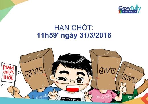 Hạn chót đăng kí chương trình là11h59' ngày 31/3/2016.(Ảnh: Internet)