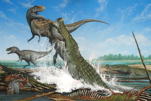 Quái vật hung bạo nhất bước ra từ thời tiền sử là cá sấu khổng lồ Purassaurus. (Ảnh: Internet)