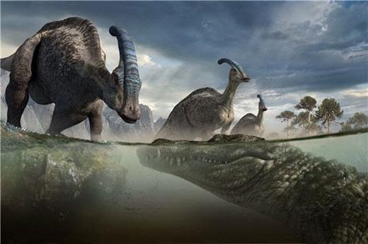 Món ăn ưa thích của loài cá sấu khổng lồ này là khủng long bạo chúaT-Rex.(Ảnh: Internet)