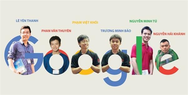 Sáu chàng trai Việt có cơ hội đến Google làm việc.
