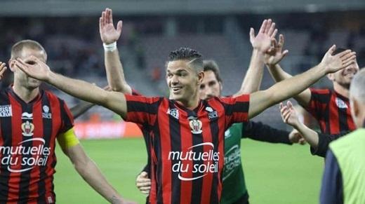 7. Hatem Ben Arfa– Tiền vệ – Nice.(Ảnh: Internet)