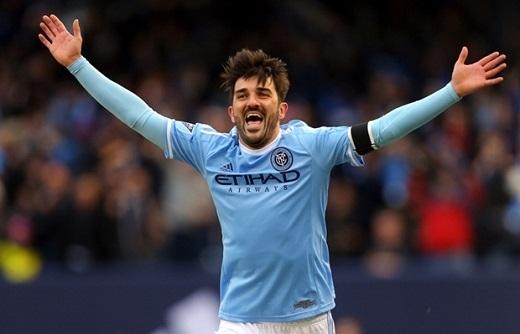 9. David Villa– Tiền đạo – New York City. (Ảnh: Internet)