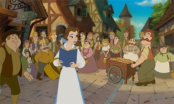 Belle là nhân vật duy nhất vận trang phục màu trắng, xanh da trời. (Ảnh: Internet)