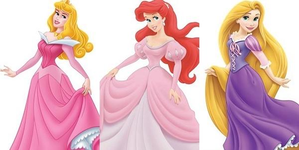 Công chúa Aurora, Công chúa Ariel và Công chúa Rapunzel thì đều tự tin khoe cổ tay. (Ảnh: Internet)
