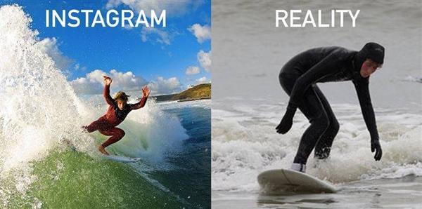 Đừng tưởng bở! Lướt sóng không dễ như bạn nghĩ đâu! (Ảnh: Internet)