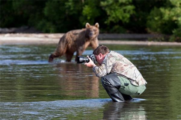 """Chụp ảnh """"gấu"""" của anh mà không xin phép hả?"""