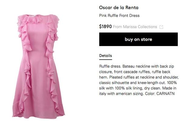 Chiếc váy này có giá của nó khoảng 61 triệu đồng khi về đến Việt Nam.